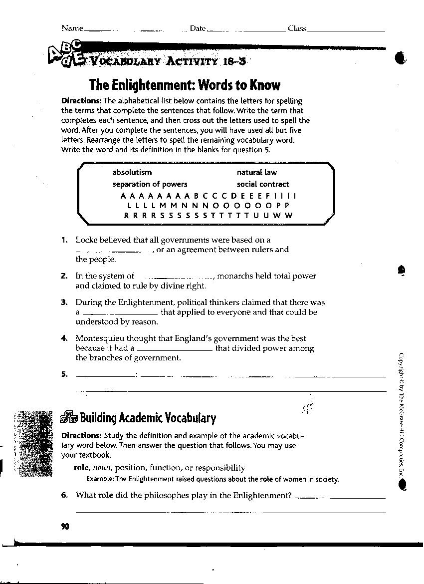 williamsonsocialstudies Revolutions – French Revolution Worksheet